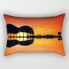 guitar island sunset Rectangular Pillow