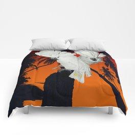 Tropical Umbrella Cockatoos A314 Comforters