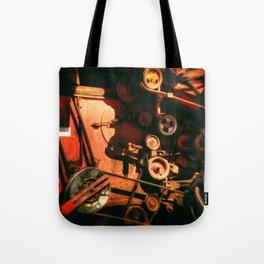 Scarlet Soviet Combine Warp Tote Bag