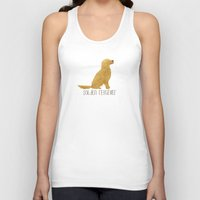 golden retriever Tank Tops featuring Golden Retriever by 52 Dogs