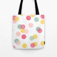 confetti Tote Bags featuring confetti by her art