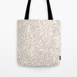 Puzzle Drawing #3 Chocolate Tote Bag