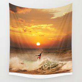 The Art Of Surfing In Hawaii 10 Wall Tapestry