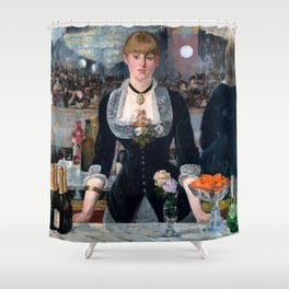"Édouard Manet ""A Bar at the Folies-Bergère"" Shower Curtain"