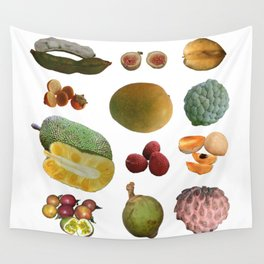 Exotic Fruit Collage Wall Tapestry