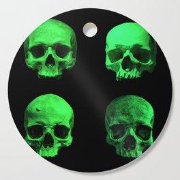 Skull quartet green Cutting Board