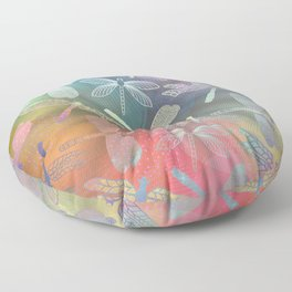 Dragonfly Dance Floor Pillow
