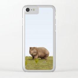 Common Wombat (Vombatus ursinus) Clear iPhone Case