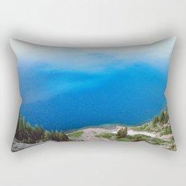 Crater Lake Cloud Reflection Rectangular Pillow