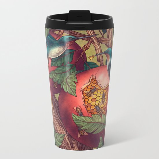 Ragged Wood Metal Travel Mug