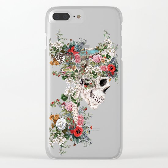 Skull Queen Clear iPhone Case