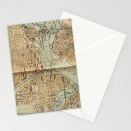 Vintage Map of Ottawa Canada (1894) Stationery Cards