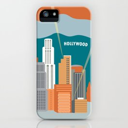 Los Angeles, California - Skyline Illustration by Loose Petals iPhone Case