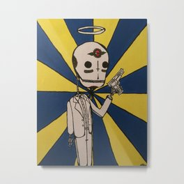 Skeleton Killer Metal Print