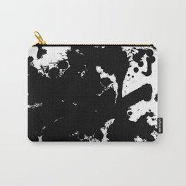 Black and white splat - Abstract, black paint splatter painting Carry-All Pouch