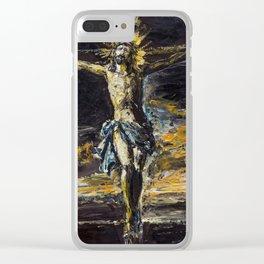 Santo Cristo de La Agonía. Limpias. Cantabria Clear iPhone Case