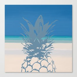 Pineapple Tropical Beach Design Canvas Print