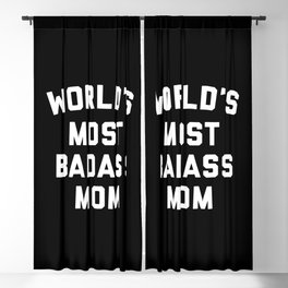 Badass Mom Funny Quote Blackout Curtain