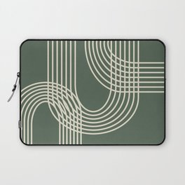 Minimalist Lines in Forest Green Laptop Sleeve