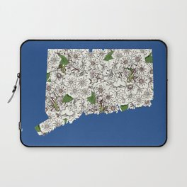Connecticut in Flowers Laptop Sleeve