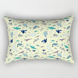 Ocean Life Pattern Rectangular Pillow