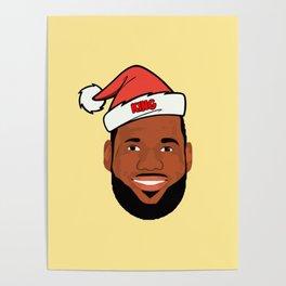 Lebron Christmas Poster