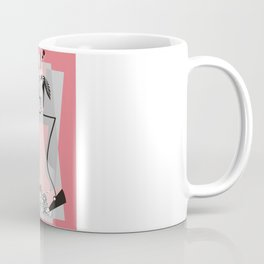 Haute couture retro high fashion crazy hat pink Coffee Mug