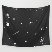 outer space Wall Tapestries featuring Outer Space Poster by TraeMikal