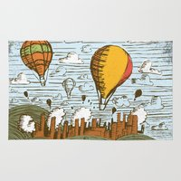 balloons Area & Throw Rugs featuring BALLOONS by Matthew Taylor Wilson