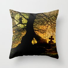 A mysterious place Throw Pillow