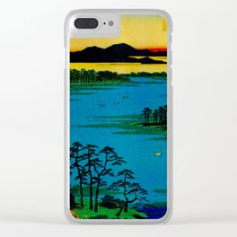 Sunset Contemplative Landscape Clear iPhone Case