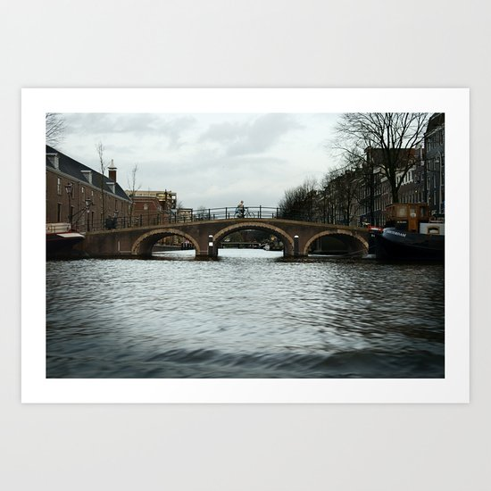 + Rolling the Bridge, Amstedam (NLD) Art Print