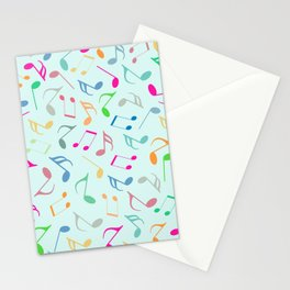Music Colorful Notes Stationery Cards