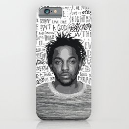 Kendrick Lamar quote print / poster hand drawn type / typography iPhone Case