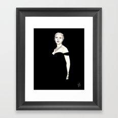 Black and Scarlett  Framed Art Print