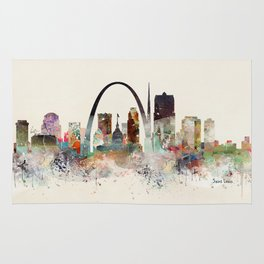saint louis missouri skyline Rug