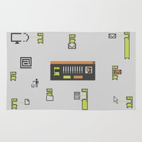 computer Area & Throw Rugs featuring Computer Virus by Bakal Evgeny