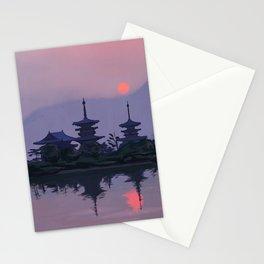 Yakushiji at Sunset Stationery Cards