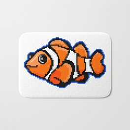 8-Bit Pixel Art Clown Fish Bath Mat
