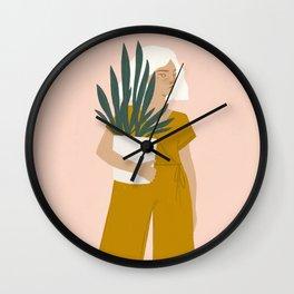 plant shopping Wall Clock