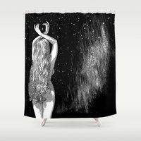 apollonia Shower Curtains featuring asc 604 - L'invocation à Vénus (Venus under the sky) by From Apollonia with Love