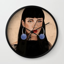 Rebel Girl IV Wall Clock