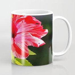 Beautiful Red Tropical Hibiscus Flower Coffee Mug