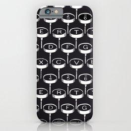 Infinite Typewriter_Black iPhone Case