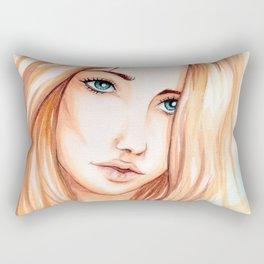 cyan eyes Rectangular Pillow
