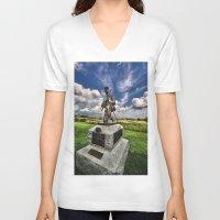 battlefield V-neck T-shirts featuring Marksman by gymmybob
