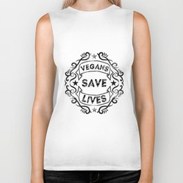 Vegans Save Lives Biker Tank
