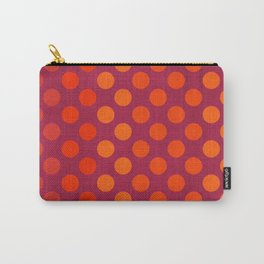 """""""Warm Burlap Texture & Polka Dots"""" Carry-All Pouch"""