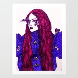 Edith Cushing (Haunted Beauty Series) Art Print