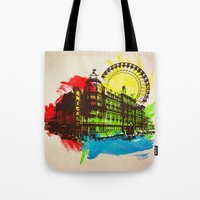 chicago Tote Bags featuring Chicago by Badamg